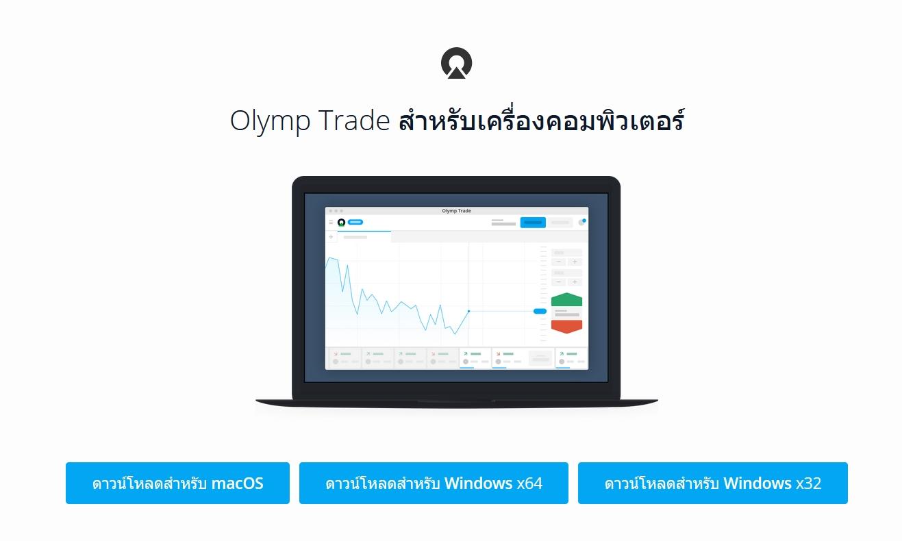 วิธีดาวน์โหลดและติดตั้งแอพพลิเคชั่น Olymp Trade บนระบบปฏิบัติการ Windows และ MacOS desktops [อัพเดท 2019]